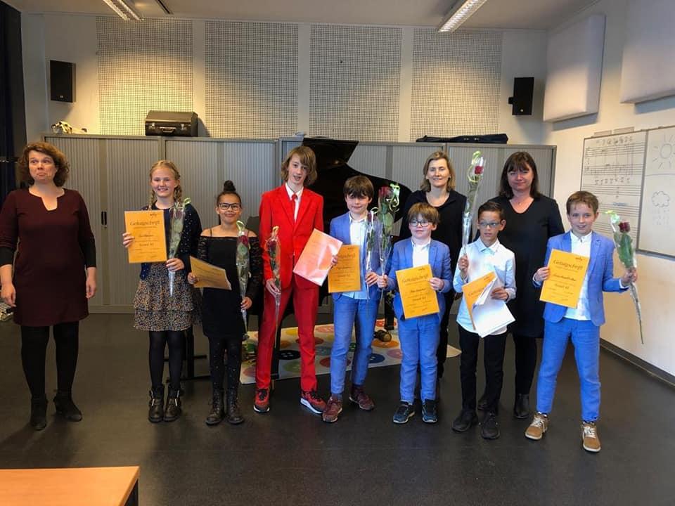 Pianoleerlingen geslaagd voor EPTA graadexamens 2019!